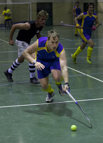 Devon Cambel, Wits, reaches for a ball during the Wits Men Hockey match aginst Jeppe A. Wits won 6-5 in a thrilling contest.