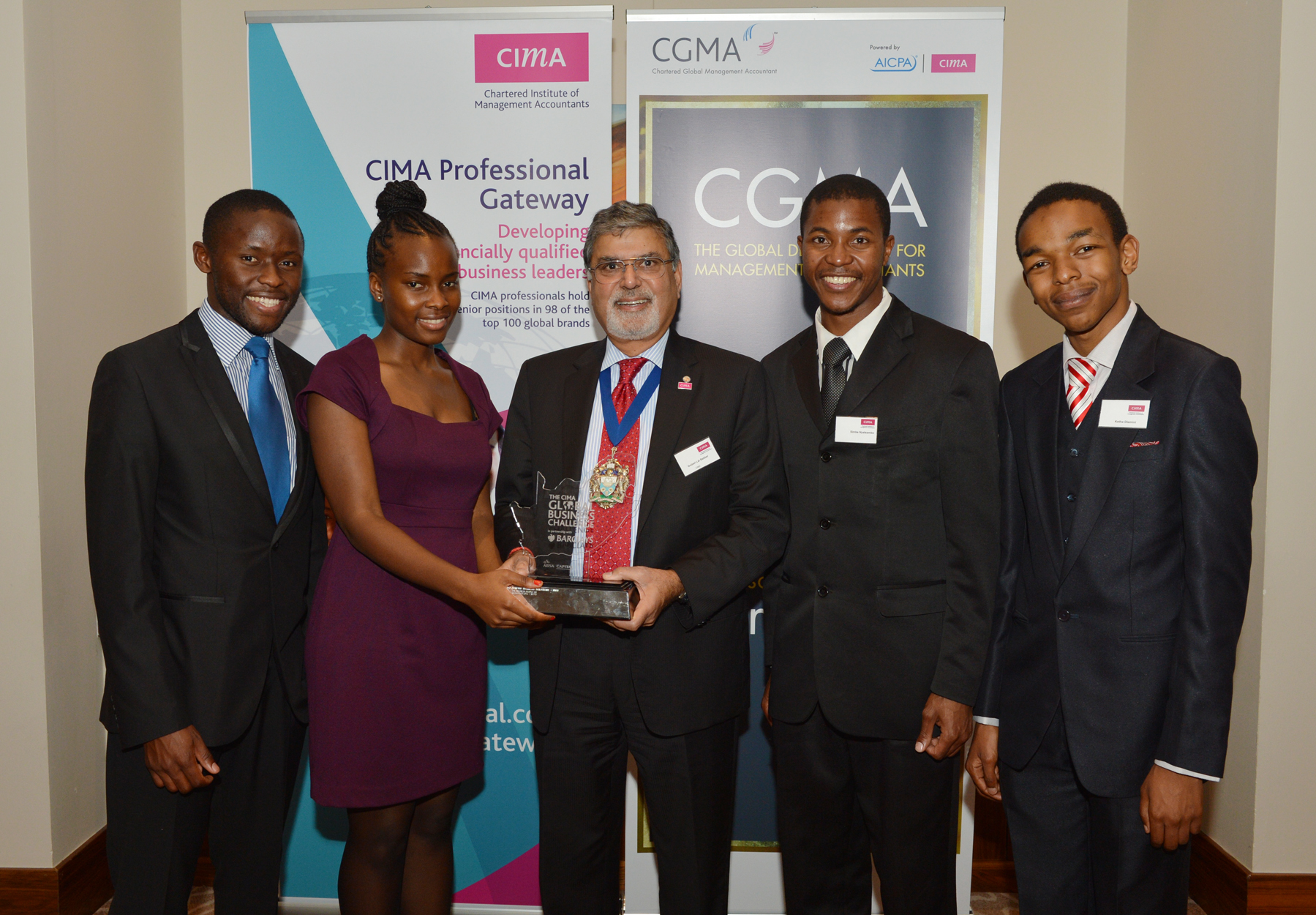 Witsies who were part of the winning team in the 2012 challenge. Photo Courtesy: CIMA