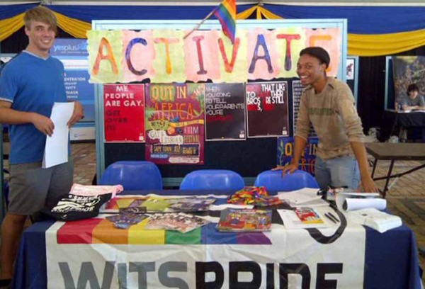 Gay Pride:members of ACTIVATE at this year's society sign up