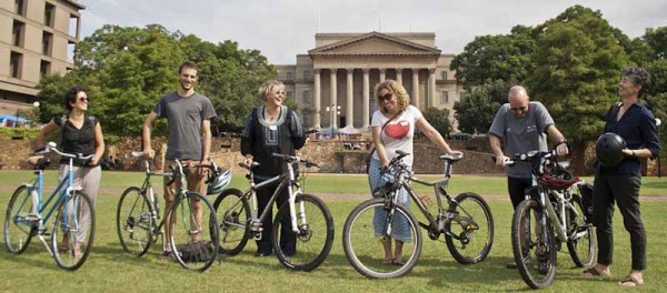 WITS CYCLE: A group of staff and students who came up with the idea to make Wits cycle friendly.