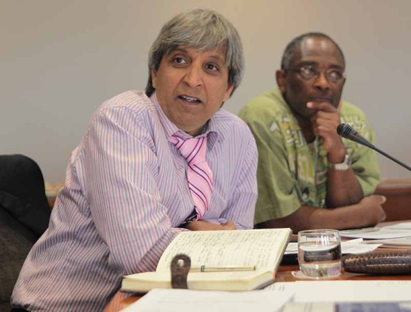 TWO VC's SPEAK: Incoming Vice Chancellor Prof Adam Habib and outgoing Vice Chancellor Prof Loyiso Nongxa addressed the media on Monday regarding the spending on the VC's official residence. Photo: Ray Mahlaka