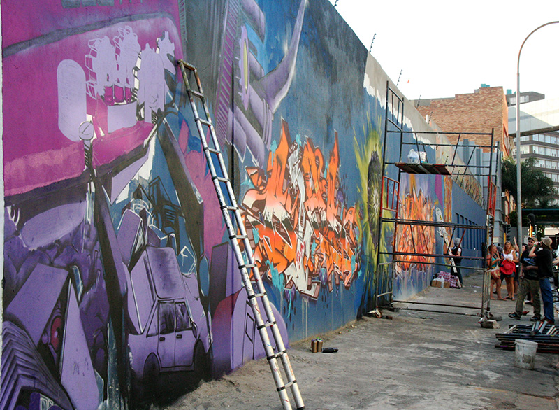 Zesty Work: Local graffiti artist Zesta's mural on Main street in the CBD. Photo: Mfuneko Toyana