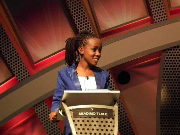 Seadimo Tlale, One Day Leader number 2, dominating at debating.  Photo: Facebook
