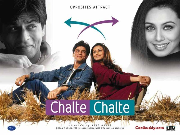 The movie Chalte Chalte which stars Bollywoods most famous actor Shah Rukh Khan and Rani Mukerjee, to be shown at the Wits Theatre on May 17th at 6:30pm. Photo: Provided
