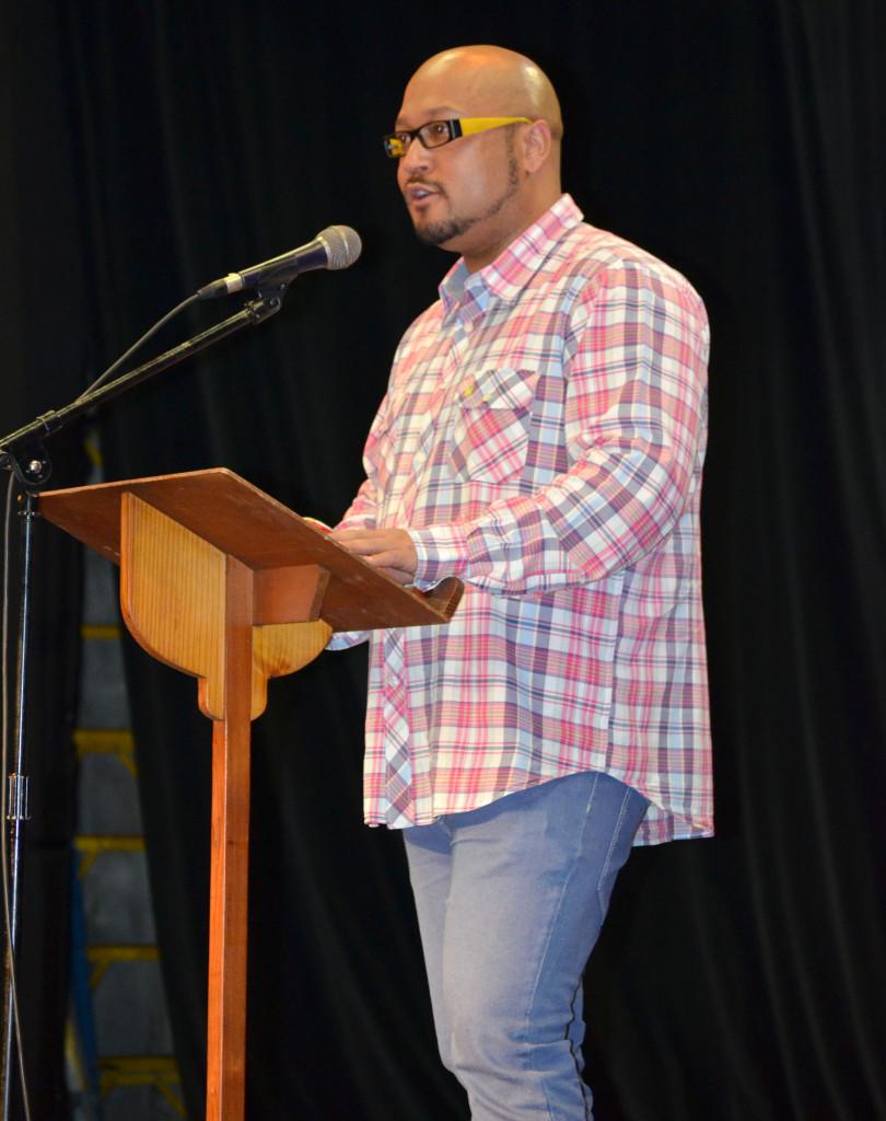 Eusebius Mckaiser tackling a burning issue during his talk on Thursday afternoon. Photo: Pheladi Sethusa