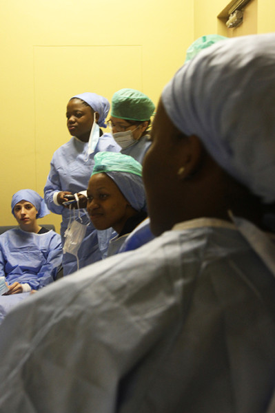 5th year MBBCh students at the Johannesburg Mortuary