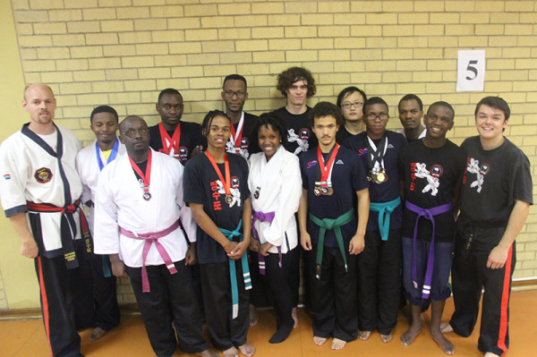 Members of the Wits Tang Soo Do club with their medals from the Bloemfontein national championships.    Photo:Ray Mahlaka.