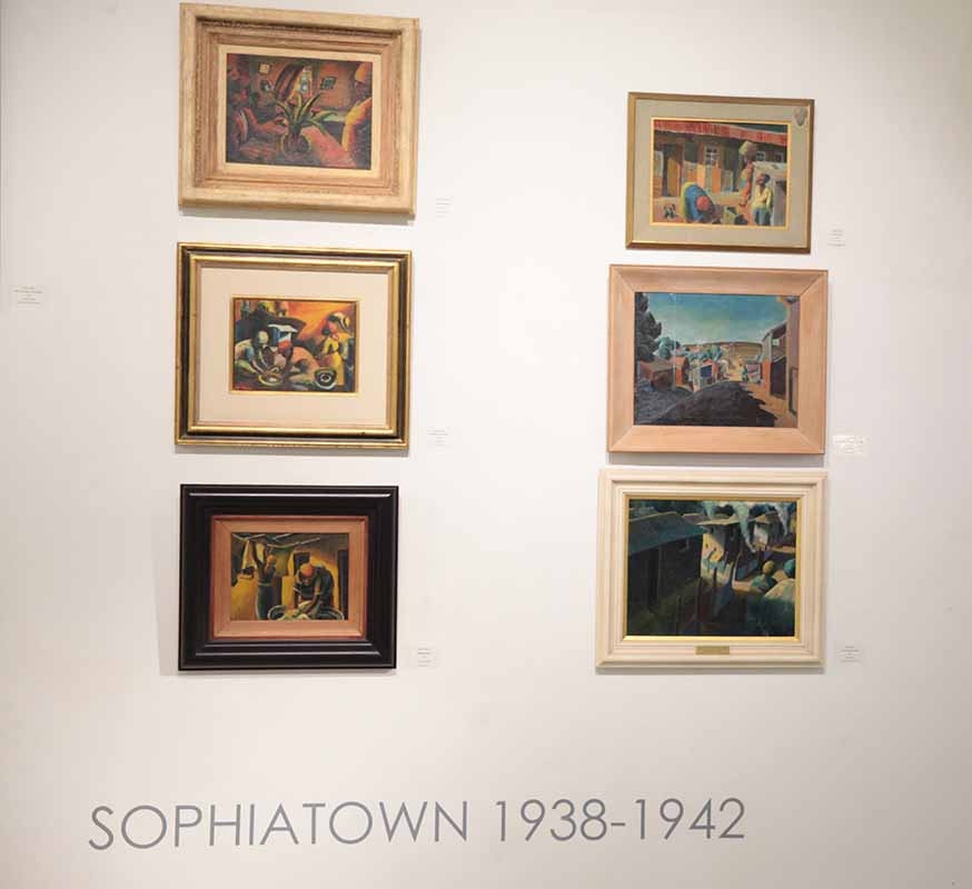 Gerard Sekoto's artworks inspired by Sophiatown. Photo: Palesa Radebe. Copyright Gerard Sekoto Foundation.