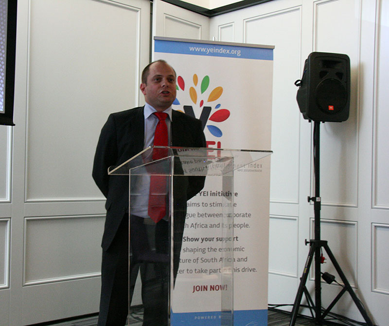 Shaun Vorster, Business Development partner for the Youth Employment Index. Photo: Palesa Radebe