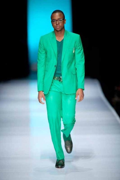 WALKING THE CATWALK: Masego Maponyane doing what he does best.