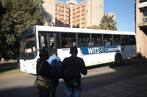 """NEW LOOK: Wits marketing are designing a new brand for the buses that will replace the """"Witrs 90 Celebration"""" design. Photo: Mia Swart"""
