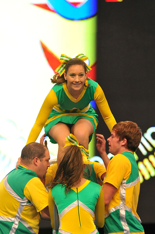 Nicole Herdman (centre) represented South Africa in two international cheerleading competitions in Orlando Florida. Photo: Provided