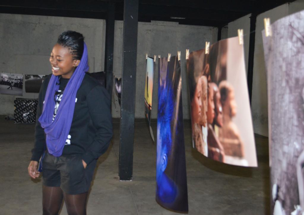 Kamogelo Mokoena pictured next to her row of photo's. Photo: Pheladi Sethusa