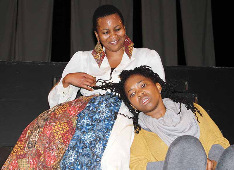 MAGICAL ILLUSIONS: Phumzile Sitole, BA theatre graduate from UCT in a timeless surreal space of dreams while performing the play Afrocartography at the Wits Theatre. Photo: Prelene Singh