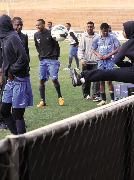 Dancing shoes: Bidvest Wits under 19s prepare for a tournament in Denmark.