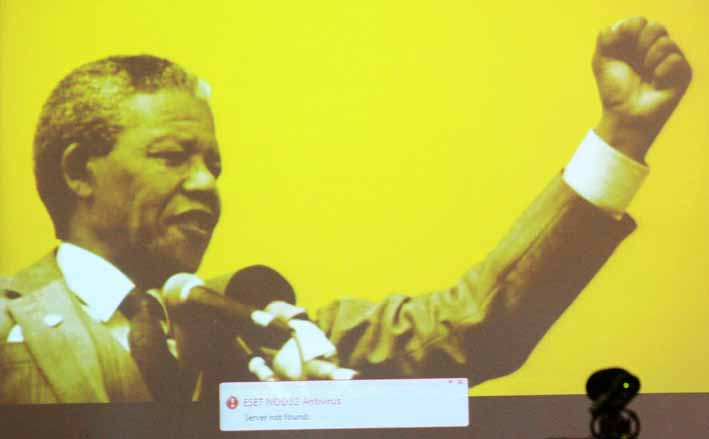 Radio Days starts by paying tribute to Nelson Mandela and emphasising the power of his voice. Photo: Dinesh Balliah.