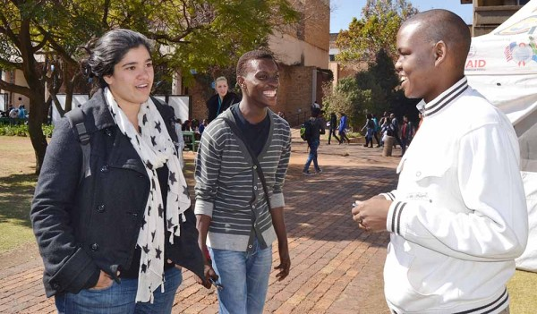 Current SRC members Tasneem Essop, Katleho Sera and Sibulele Mgudlewa . The new SRC will start their term in November.