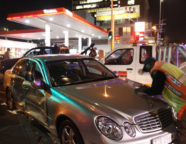 The Mercedes Benz Masike and his friends were in.      Photo: Dineo Bendile
