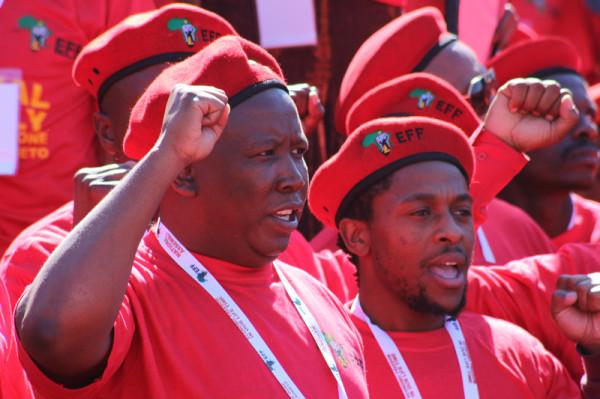 Hotshots: Julius Malema and Mbuyiseni Ndlozi of teh Economic Freedom Fighter