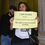 """""""I am silent because I am mourning the loss of my right to to not be racially profiled""""  Photo: Nokuthula Manyathi"""