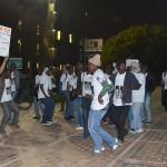 """More singing of 'Dubula e Juda"""" (shoot the Jew) by some of the protestors.  Photo: Nokuthula Manyathi"""