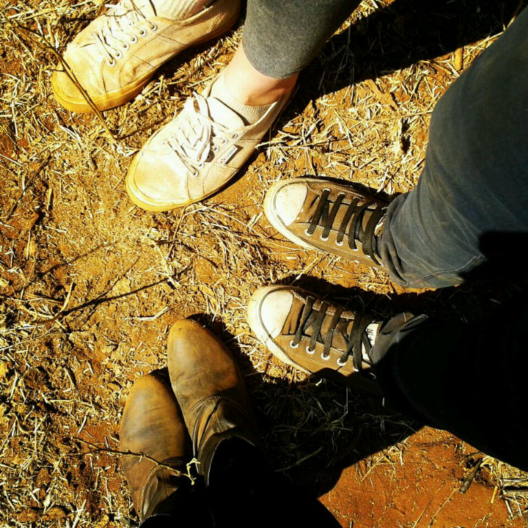RUINED: Three pairs of shoes that will probably never be clean again. Photo: Shandukani Mulaudzi