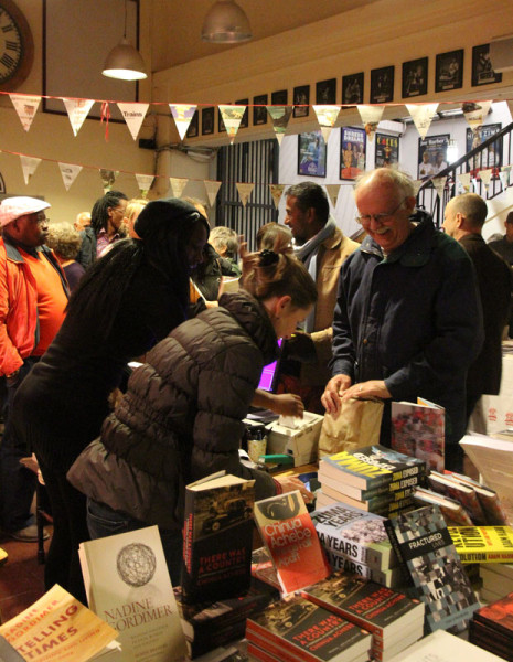 SOLD: All the books discussed were on sale for audience members to buy during breaks. Photo: Pheladi Sethusa