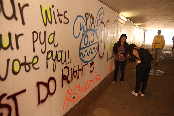 """""""Do right"""", """"Our Wits. Our PYA. Vote PYA."""""""