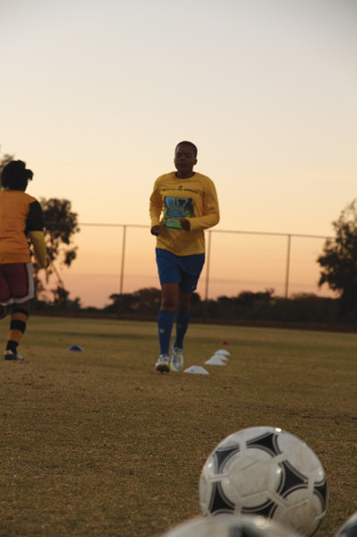 Keep Going: Members of the Wits women's team during a training session. Photo Mfuneko Toyana