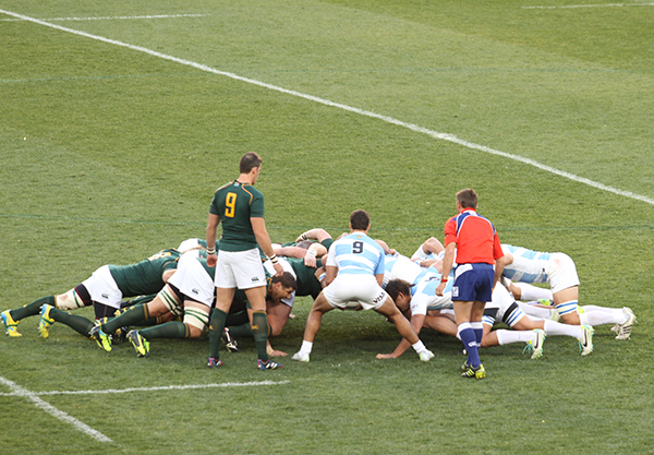 Springboks: Argentina stood no chance against the persistent Boks. Photo: Caro Malherbe