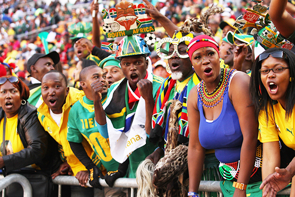 Unite4Mandela: Supporters at the FNB Stadium in Soweto during the Bafana Bafana soccer match