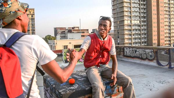 OFF THE HOOK: Rappers Themba Thwala, aka Mag, and Asanda Bikani, aka Nobody, explore new heights of expression.  Photo: Palesa Radebe
