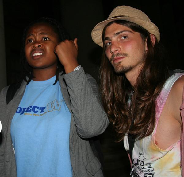 Project W's Jabulile Mabuza and Jarred Hart respond to the announcement of the 2013 SRC portfolio. Photo: Ray Mahlaka