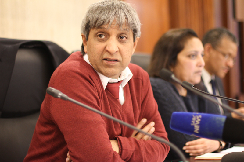 Vice Chancellor, Adam Habib addresses the media on the release of findings into the investigation into the matter of sexual harassment on campus by Norton Rose legal firm. Photo: Pheladi Sethusa