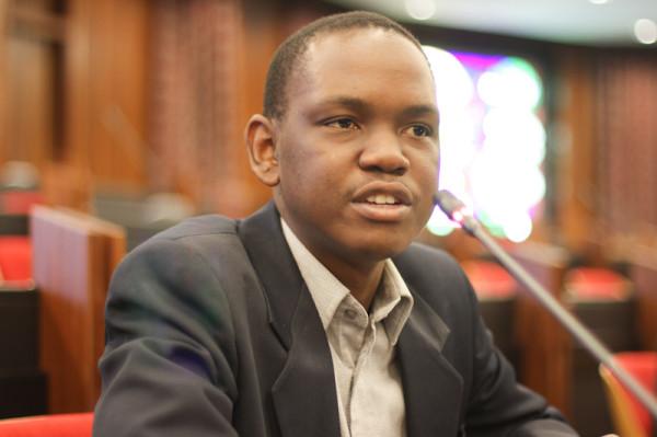 Former SRC President, Sibulele Mgudlwa gives commentary on the case of recently dismissed Mcebo Dlamini. Photo: Pheladi Sethusa