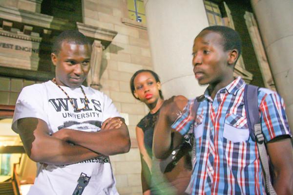 Bayas'jwayela: Project W's Jamie Mighti listens on as Progressive Youth Alliance's  (PYA) Tebogo Thothela explains why some SRC portfolios were merged and new ones created.                                                      Photo: Ray Mahlaka