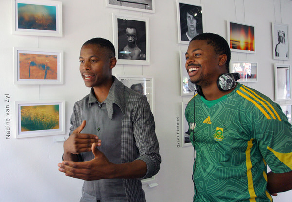 ARTISTS UNITE: Tseleng Phala (left) and Kudakwashe Johnson (right) in Braamfontein, on their company's prospects.  Photo: Ray Mahlaka
