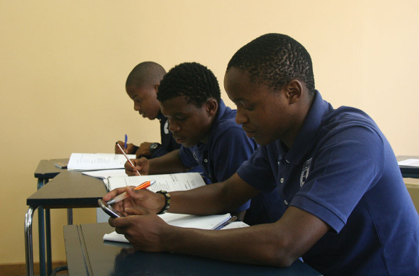 DISTRACTED: Learners from the Bidvest academy in class during their Isizulu lesson. Photo: Palesa Radebe