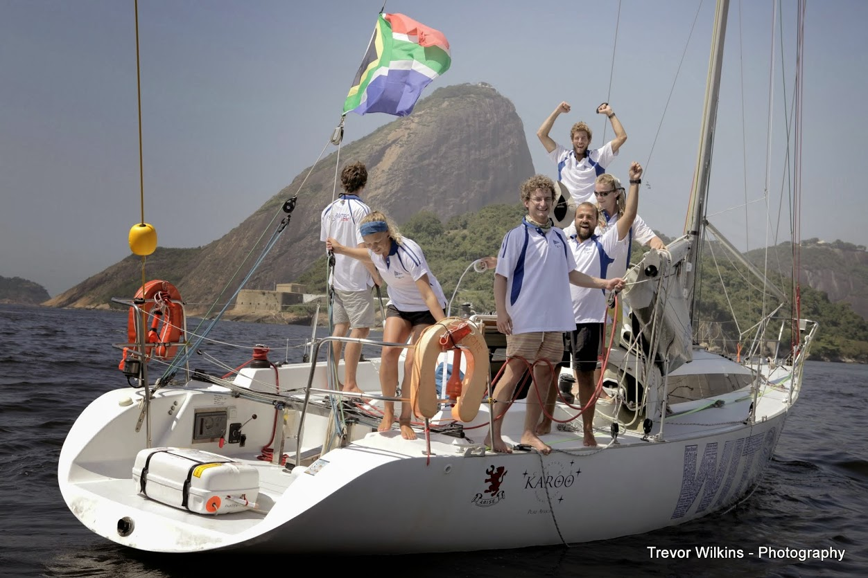 WITSIES ON THE FINISH LINE: The Amtec Wits team is pictured on their arrival in Rio last Tuesday. Photo: Google+