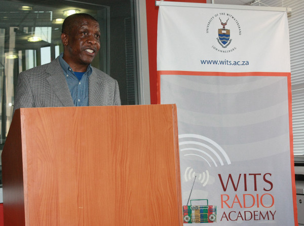 Tim Modise reminded graduates at the Wits Radio Academy of the importance of their work as radio broadcasters within their communities. Photo: Emelia Motsai.