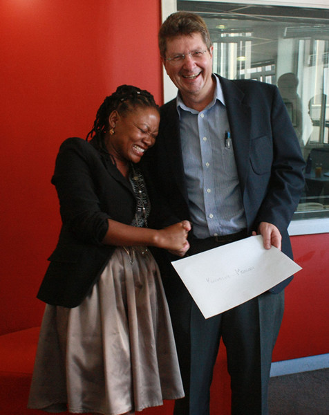 It was joy all around when the director of Wits Radio Academy, Franz Kruger, handed out a certificate to a graduates.