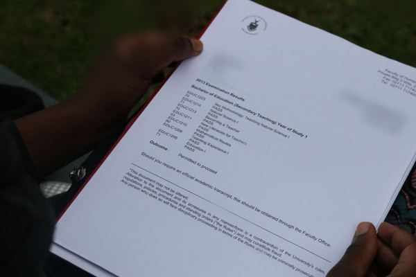 ACADEMIC RESULTS:  A student from the School of Education believed that this high aggregate was enough for the Funza Lushaka bursary to be granted.