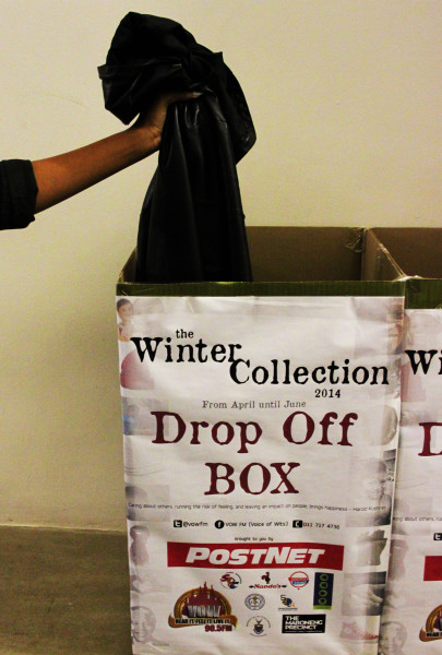 A CHANCE TO GIVE: With the weather becoming increasingly colder, students can donate clothes to those in need. Photo: Zelmarie Goosen
