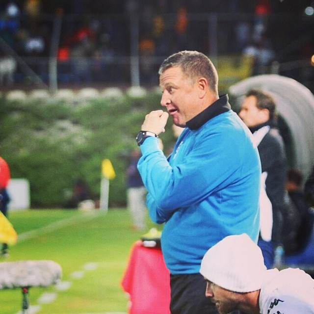 A #penny for your thoughts? #Wits coach #GavinHunt deep in thought in extra time as the game remains goalless. #KaizerChiefs