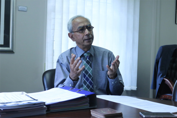 LAWS OF LIFE: Professor Vinodh Jaichand explained that students do not have enough experienxe to enter the law profession with their undergraduate degrees. Photo: Bongiwe Tutu