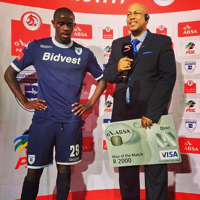 Man of the match @BidvestWits Kwanda Mngonyama #AbsaPrem