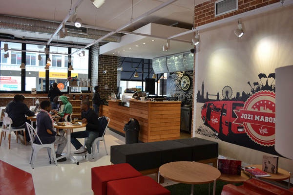 Braamies enjoying African Blended coffees and free Wi-Fi