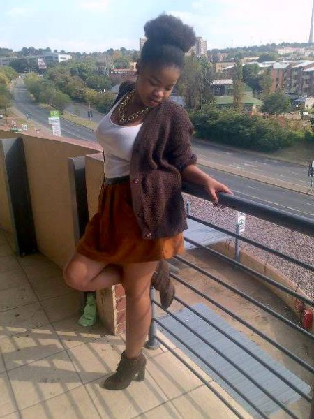 University of Johannesburg students, Minikazi Jojo, posing against the railing of the Milpark Mews apartment building.   Photo: Provided