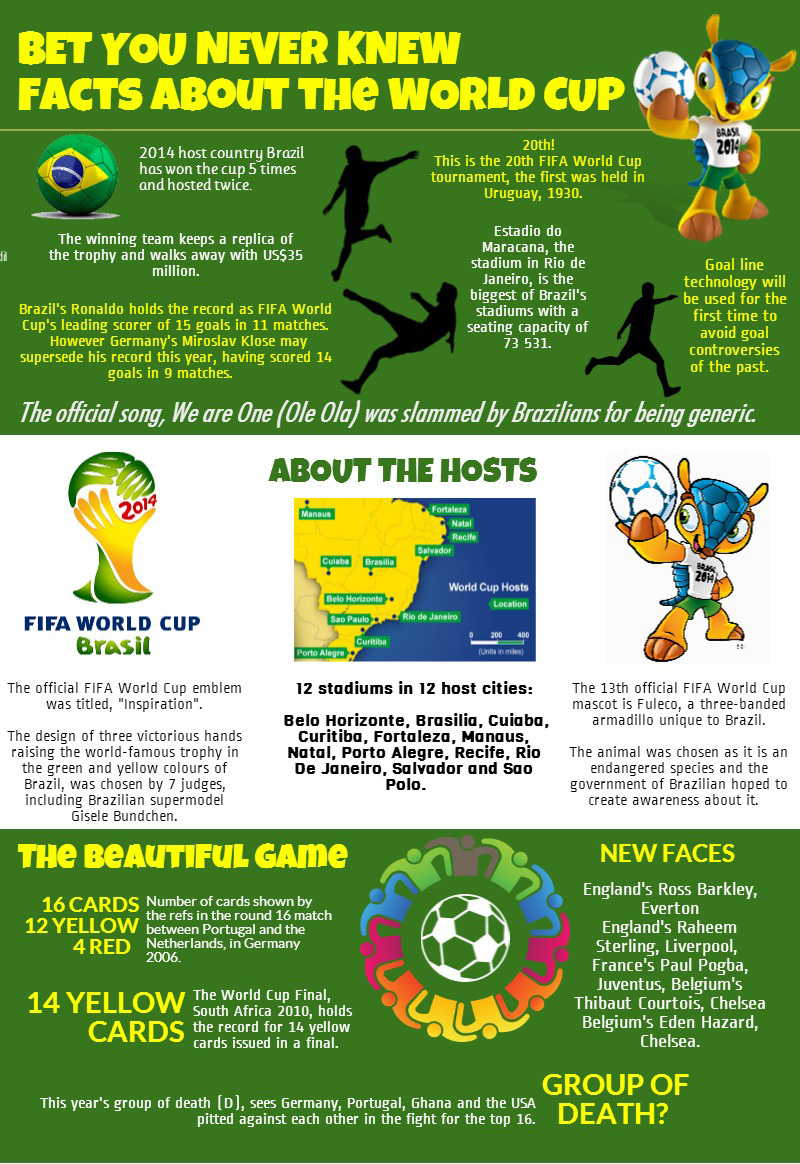INFOGRAPHIC:  Bet you never knew – World Cup facts
