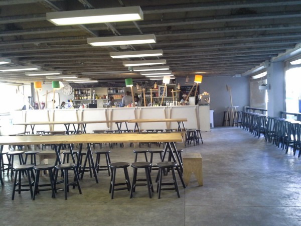 Braamfontein's Neighbourgoods market remained closed and empty till 11am this morning. Photo: Roxanne Joseph.